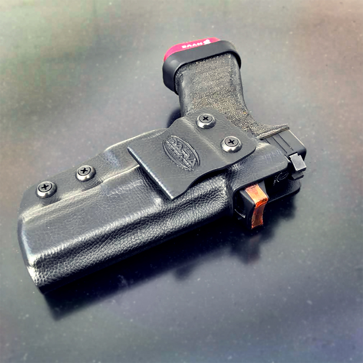 holster that accommodates rmr, holsters for red dot, pistol red dot sight, reflex sight, rmr holster, rmr iwb holster, trijicon rmr holster